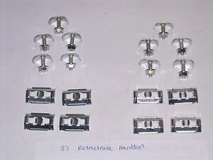 57 1957 Ford Retractable Rear Quarter Stainless Trim Body Molding Clips New