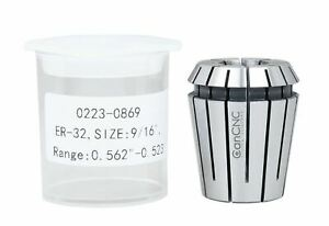 5 Pcs 9 16 Er32 Collet Set 0 0004 In Fitted Box 0223 0869x5