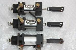 Lot Of 3 Sheffer Air Hydraulic Cylinders With 2 Micro Switch Fe mls4b 1 16vdc