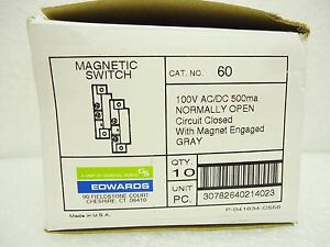 new Edwards 60 Magnetic Switch Box Of 10 Individually Bagged