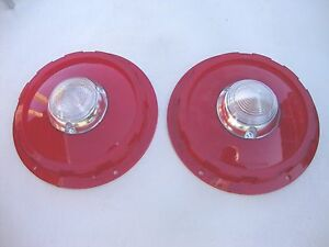 1957 57 Ford Thunderbird T Bird Taillight Lenses W Back Up Light New