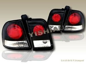 Fit For 96 97 Honda Accord Altezza Tail Lights Jdm Black New