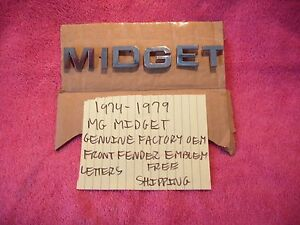 1974 1979 Mg Midget Genuine Factory Oem Front Fender Emblems Free Shipping