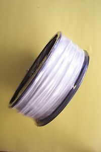 White Vinyl Coated Cable Wire Rope 1 8 3 16 7x7 250 Ft Reel