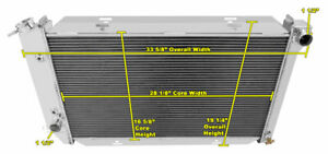 1972 1973 1976 Ford Torino 3 Row Dr Radiator 17 5 8 X 28 Wide Core