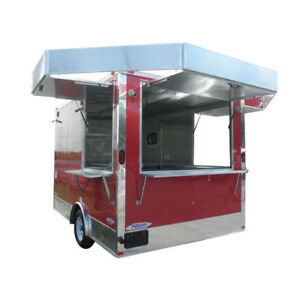Concession Trailer 8 5 x12 Red Vending Catering Event Food