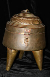 Antique Vintage Copper Brass Cauldron