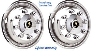 19 5 Hino 258lp Truck 8 Lug Wheel Simulator Hubcap Rim Liner Two Front Covers
