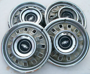 Vintage Hubcaps 1967 Chevy Set Of 4 Original