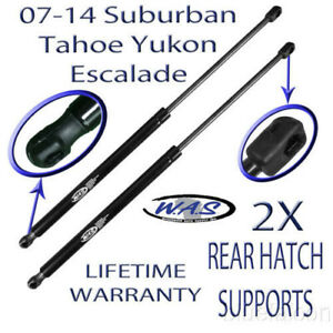 2 Rear Hatch Liftgate Tailgate Lift Supports Shock For 07 14 Suburban Yukon Xl