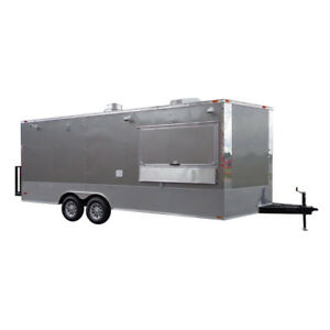 Concession Trailer 8 5 x20 Grey Custom Catering Food Event