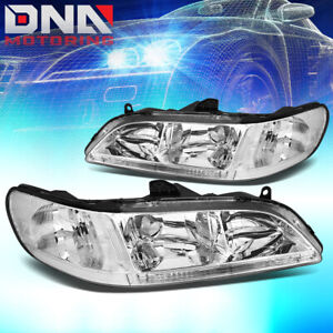 For Honda Accord 1998 2002 2dr 4dr Jdm Chrome Housing Clear Corner Headlights