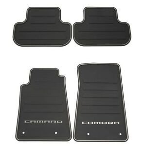 2010 2014 Camaro All Weather Rubber Floor Mats 22766717 Gm Oem