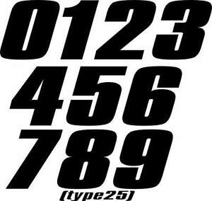 Motorcycle Mx Number Plate Decals Motocross Stickers Atv Sx Rm Kx Yz Go Kart