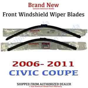 Genuine Oem Honda Civic 2dr Coupe Front Windshield Wiper Blades 2006 2011