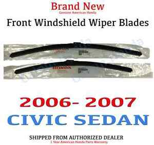 Genuine Oem Honda Civic 4dr Sedan Front Windshield Wiper Blades 2006 2007