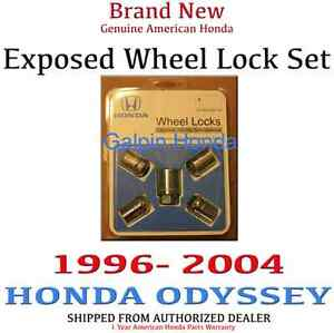 1996 2004 Honda Odyssey Van Genuine Oem Exposed Wheel Lock Set
