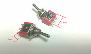 100pcs 3 Pin On off on Spdt 3 Stalls Switch Ac 5a 120 V 2a 250v