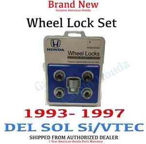 1993 1997 Honda Del Sol Si Vtec New Genuine Wheel Lock Set