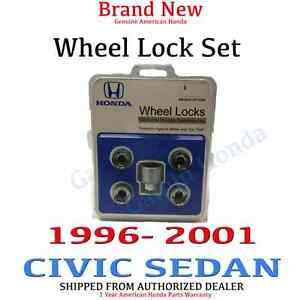 1996 2001 Honda Civic Sedan New Genuine Wheel Lock Set