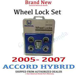 2005 2007 Honda Accord Hybrid New Genuine Wheel Lock Set