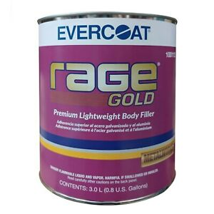 0 8 Gallon Evercoat Rage Gold Premium Auto Body Filler 112 Lightweight