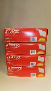 Lot Of 4 Boxes 100 Universal Unv16120 Reinforced Top Tab Manila Legal Folders