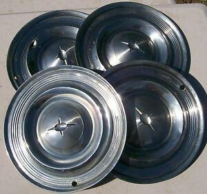 Vintage Hubcaps 1957 Oldsmobile Set Of 4 Original