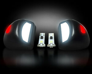Recon 2007 2013 Chevy gmc 6k White Led License Plate Light Factory Fit Red
