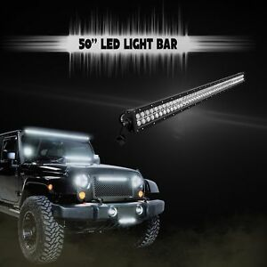 50inch 288w Led Light Bar Off road Spot Flood Combo Truck Suv Jeep Ford