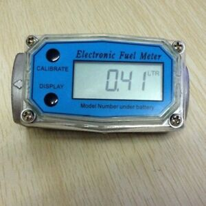 Turbine Digital Diesel Fuel Flow Meter Gauge 1 5 Bspt npt 20 200gpm 76 760lpm