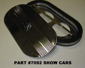 348 409 58 59 60 61 62 63 64 Chevrolet Impala 2x4 Oval Air Cleaner Chrome Top