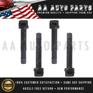 Set Of 4 For Honda Civic Accord Element Ignition Coils 2 4l Uf311 2003 2006