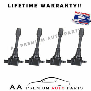 For Nissan Sentra Altima Ignition Coils 2 5l C1398 Pack Of 4