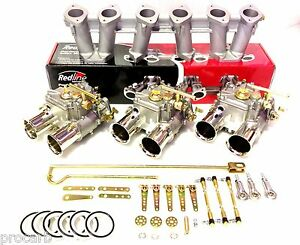 45 Dcoe Ford 6cyl Cast Iron X Flow Head Performance Carby Package Suit Weber