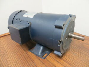 Leeson 1 Hp 1750 Rpm 180 Volts Dc Permanent Magnet Motor New