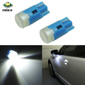 2 Hid White Car Truck Under Mirror Puddle Lights 168 194 2825 W5w Cree Led Bulbs