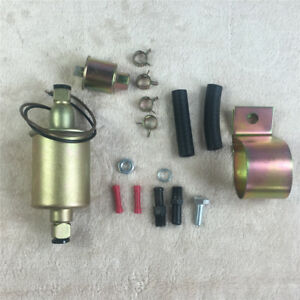 E8012s Universal Electric Fuel Pump Gas Diese Carbureted With Installation Kit