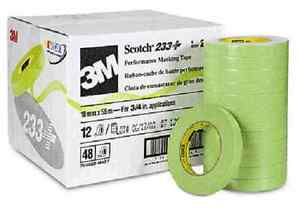 3m Scotch Automotive Refinish Masking Tape 233 Box Of 24 Rolls 24mm X 55m 26336
