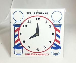 Will Return At Business Sign Clock For Barber Shop Hair Salon Time For Hair Cut