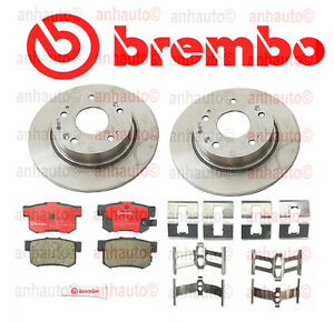 Honda Accord 03 07 Rear Brake Rotors With Brake Pads Brembo Oem Kit