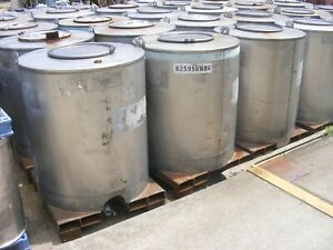 Used Chemical 300 330 Gallon Stainless Steel Forklift Transportable Tank Tote