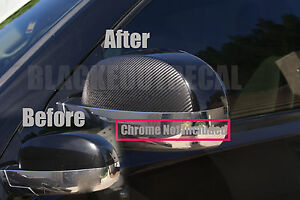 07 13 Chevy Tahoe Precut Carbon Fiber Mirror Vinyl Cover Overlay Decal Covers