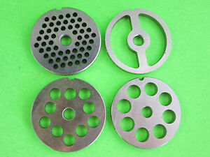 5 Combo 4 Grinding Plates For Electric Or Manual Meat Grinder Fits Lem Etc