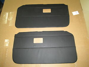 New Door Panel Set For Mgb Roadster And Gt 1968 1969 Black Made In The Uk