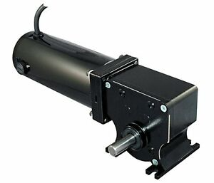 Dayton 12 Volt Dc Right Angle Gear Motor 1 8 Hp 54 Rpm 5laf7