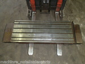 63 X 19 5 X 7 5 Steel T slotted Table Cast Iron Layout Fixture Plate Weld
