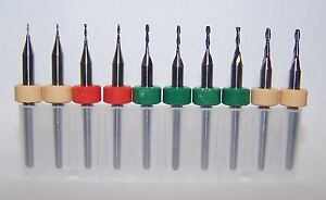 Micro Machining Kit Set Of 10 Metric Endmills 0236 To 0591