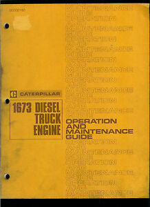 Rare Original Factory 1972 Caterpillar Owner s Manual 1673 Diesel Truck Engines