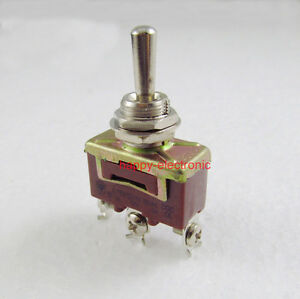 20pcs Momentary Toggle Switch 3 Pin Spdt on off on 15a 250vac